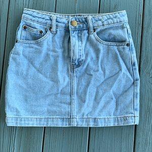 Forever 21 light blue denim jean skirt